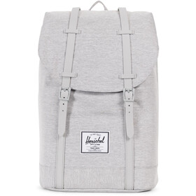 Herschel Retreat Rugzak 19,5l, light grey crosshatch/grey rubber